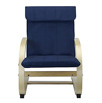 Kids Lounge Chair in BLUE , Bentwood Childrens Chair