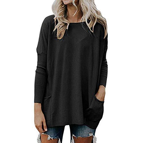 Somesun camicia donna in lino di cotone casual a maniche lunghe camicetta abbottonata prime eleganti taglie comode particolari corte lunghi elegante divertenti (nero-2, s)