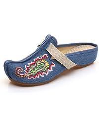 Zapatillas Bordadas Viento Exótico Viento Nacional Sandalias de Verano