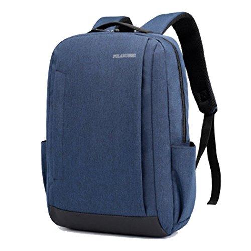 Laptop Rucksack Computer Rucksack 15,6 Zoll Daypack Wasserabweisende Laptoptasche Mit USB-Ladeanschluss Laptoptasche Für Business/Schule/Reisen/Frauen/Männer,Blue,OneSize