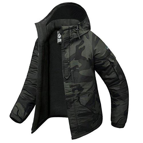 Southplay Herren Camouflage mit Kapuze Wasserdichte Winter Snowboard-Camo Holz (Medium)