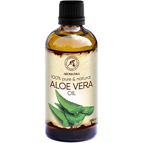 Aloe Vera Öl 100ml - Aloe Barbadensis - Brasilien - Aloe Vera-Öl Basisöl - Raffiniert - Intensive Pflege für Gesicht - Körper - Haare - Nägel - Hände - Massage -