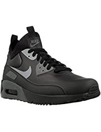 Nike - Air Max 90 Ultra Mid Win - 924458002 - Color: Negro-Gris - Size: 41.0