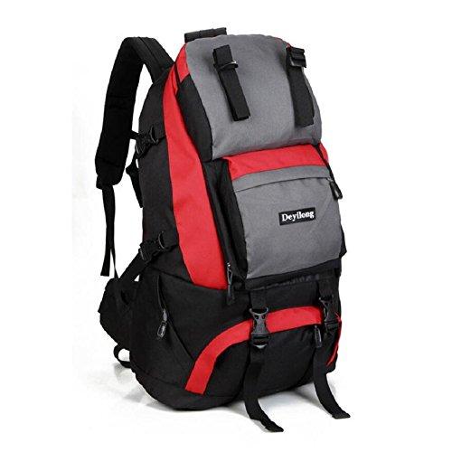 LF&F Hochwertige Nylon 40L Kapazität Outdoor Sport Bergsteigen Klettern Camping Rucksack Wandergepäcktasche Umhängetasche Multifunktionsrucksack Unisex E