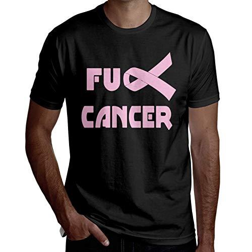 Herren Brustkrebs Pink Ribbon Fashion Kurzarm T-Shirt Lustige T-Shirts Coole T-Shirts Lässig Bedruckt(3X-Large,3X-Large) (Pale Pink Ribbon)