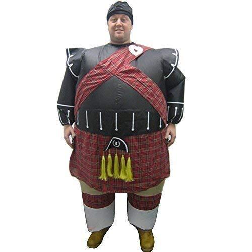 Eurotrade W Ltd Neue Aufblasbare Schottisch Piper Kostüm Outfit Schottenkaro Kostüm Anzug