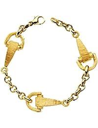 3fc39b7a7b52 Amazon.es  oro 18k - Oro amarillo   Pulseras   Mujer  Joyería