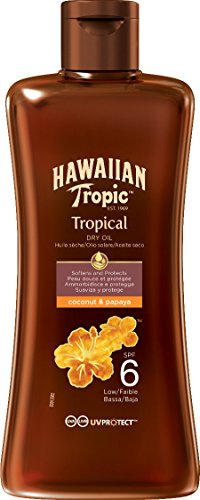 Hawaiian Tropic Protective Dry Oil LSF 6, 200 ml