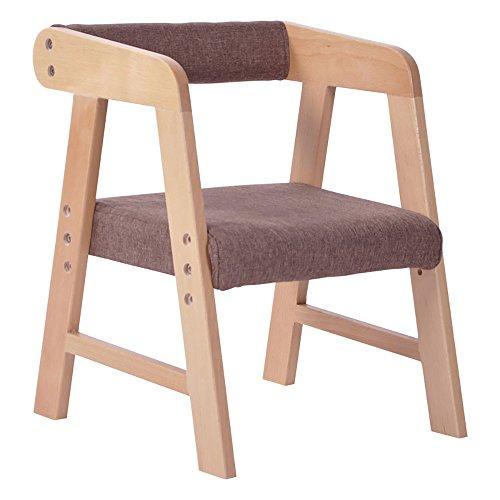 LJHA Tabouret pliable Tabouret créatif/enfants en bois massif fauteuil/tabouret d'étude réglable/tabouret de jardin d'enfants chaise patchwork (Couleur : Marron)