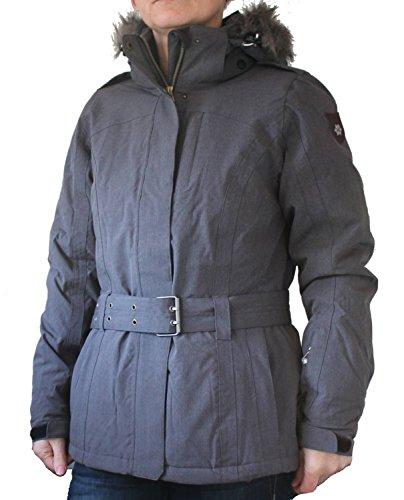 Killtec Damen Skijacke Freizeitjacke Finna mit Gürtel abzipbarer Kapuze grau, Größe:38