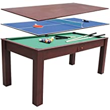 ociotren billard 3 en 1 table de tennis de table table de salle manger