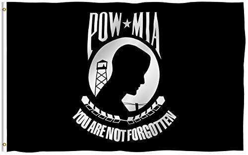 Anley? amerikanische Flagge + PowMia, Textil, POW MIA, 3 X 5 Ft