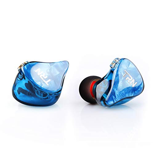 88AMZ TRN IM2 EarHIFI SIX-Unit-Ring Headset 2 Dynamic & 2 Balanced Armature Driver,Stereo Bass IEM,In-Ear Monitor Headphone Metal Earbuds,Verkabelt with Mikrofon with Detachable 2 Pin Cable (Blue) Unit Headset