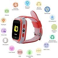 Iiloens Amiubo Kinder Smart Watch Telefon SIM Anruf Anti-verlorene SOS Tracker Sportuh Running GPS-Geräte