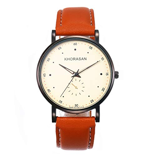 siker Rund Zifferblatt Quarz Uhr mit Leder Armband Ultradünne Damenuhren ()