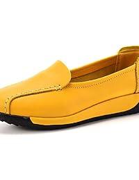ZQ Zapatos de mujer-Tac¨®n Robusto-Tacones-Tacones-Casual-PU-Negro / Rojo / Blanco / Gris / Almendra / Camello , almond-us8 / eu39 / uk6 / cn39 , almond-us8 / eu39 / uk6 / cn39