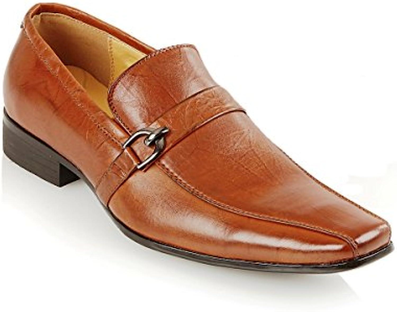 Shoe Avenue - Mocasines de sintético para hombre, color marrón, talla 44