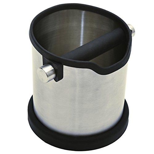 Edelstahl Abklopfbehälter, Abschlagbehälter, Ausklopfbehälter, Tresterbehälter, Kaffeesatzbehälter, Knock Box für Espresso Kaffeesatz aus dem Siebträger. Das perfekte Barista Zubehör.