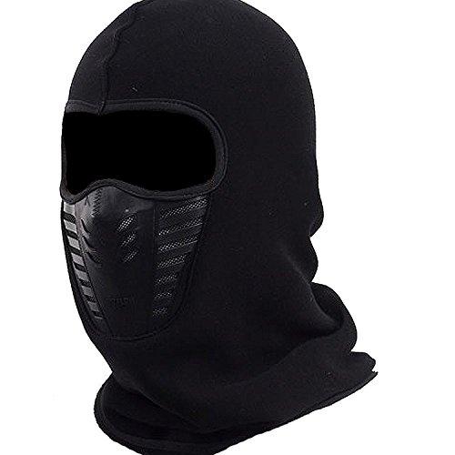 Herren Sturmhaube Face Mask, Fleece Kapuze atmungsaktiv winddicht Hat, Jagd, für Winter Ski Motorrad, - Helme Fußball Motorrad