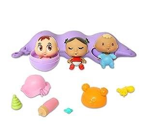 Splash Toys Pea POD Babies ASST 30859, Azul, Púrpura, Amarillo, Rosa