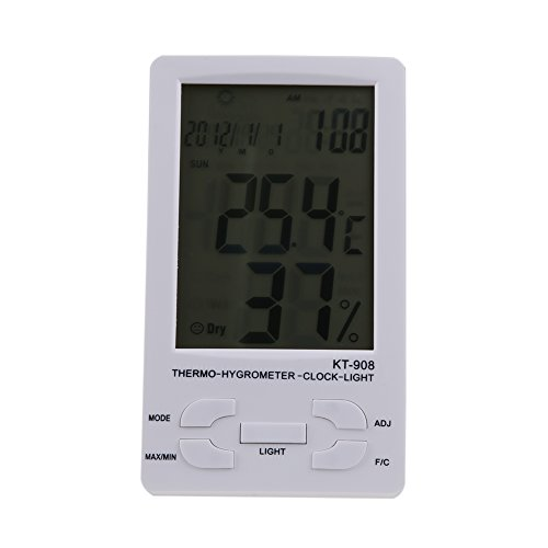 Unterbrechen Indoor/Outdoor Digital LCD Thermometer Hygrometer Temperatur Luftfeuchtigkeit Met 00 Ipod