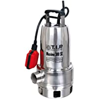 T.I.P. 30116 Schmutzwasser Tauchpumpe Maxima 300 IX Edelstahl, bis 18.000 l/h Fördermenge