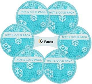 Mehrfach Kälte- & Wärmekompressen Kinder 6-er Pack Kühlbeutel Gelkompresse für kalt & warm - Anwendungen - Mikrowellen geeignet