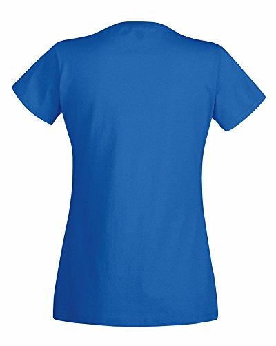 Lot 2Fit valueweight de Fruit of the Loom T-shirt col V 613980 Bleu - Bleu roi