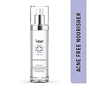 Kaya Clinic Acne Free Purifying Nourisher, Gentle/light/non-greasy Moisturizer for oily & acne prone skin, 50 ml