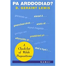 Pa Arddodiad: A Check-list of Welsh Prepositions