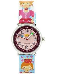 Baby Watch - Coffret Royaume Enchanté - Montre Fille - Montre Pédagogique 4-7 ans - Cadran Rose - Bracelet Plastique Multicolore