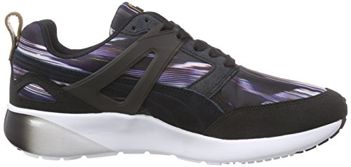 Puma Aril Fast Graphic Wn's, Baskets Basses femme Noir - Schwarz (black-steel gray 01)