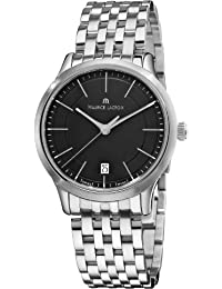 Maurice Lacroix Men's LC1117-SS002330 Les Classiqu Stainless Steel Black Dial Watch