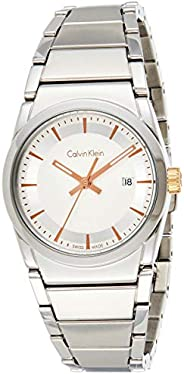 Calvin Klein K6K33B46 Womens Quartz Watch, Analog Display and Stainless Steel Strap - Silver