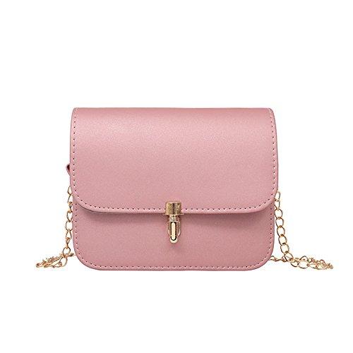 Sprnb Il Nuovo Dolce Personalità Tutta-Match Bag Sacca Crossbody Borsa Casual Telefono Mobile,Nero Pink
