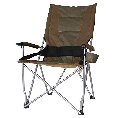 Zurück Bar Stuhl (KFXL yizi Klapptische Und Stühle Im Freien Hoher Zurück Angeln Stuhl Barbecue Strand Tisch Und Stuhl Tragbare Stuhl 3 Farbe Optional (Farbe : Brown, größe : 2#))
