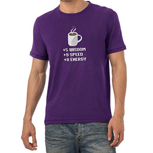 TEXLAB - Wisdom Speed Energy - Herren T-Shirt, Größe XXL, violett
