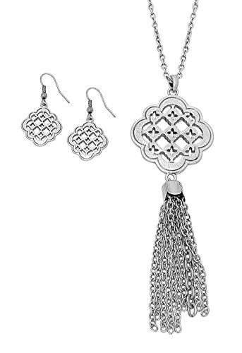 rosemarie-collections-da-donna-lungo-nappe-collana-e-orecchini-set-ciondolo-marocchina