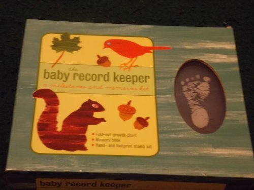THE Baby Record Keeper -- a Milestones and Memories Kit (Foldout Growth Chart/memory Book/hand and Footprint Stamp Set)
