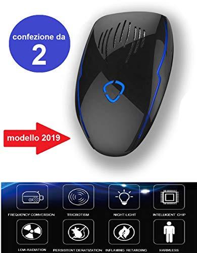 Enjoy-Time Repellente Ultrasuoni Professionale Topi Insetti Zanzare Mosche-Versione 2019 con Convertitore ad...