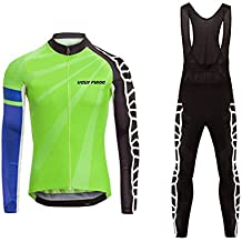 Uglyfrog 2018 Nuevo De Invierno Mantener caliente Hombre Manga Larga Maillot Ciclismo +Bib Pantalones Sets with Gel Pad Winter Style