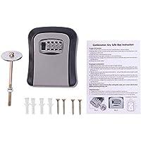 Caja de llaves de contraseña de 4 dígitos Combinación de llaves Caja de organizador de almacenamiento Montada en la pared Herramienta de bloqueo de seguridad para el hogar Caja de llaves de metal