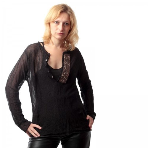 BRAY STEVE ALAN Bsa-Maglietta a maniche lunghe, BRAY STEVE ALAN, taglia L, trasparente colori nero 40
