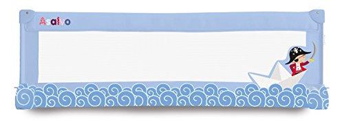 Asalvo 12708 - Barrera de cama, diseño barquito de papel, 150 cm