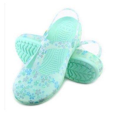 Zhenfu Femmes Sandales Confort Chaussures Printemps Pour Casual Bleu Silicone Printemps Rougissant Lumière Rose Violet Plat Bleu Clair