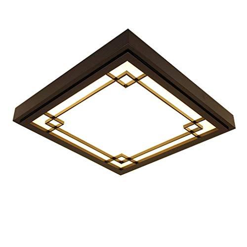 Rund Holzlampe Deckenleuchte LED Dimmbar Holz Lampe Schlafzimmer Wohnzimmer Deckenlampe Mit Fernbedienung Vintage Leuchte Decke Licht Mit Rustikal Zimmerlampe Küchenleuchte Innen Beleuchtung Bar 24W