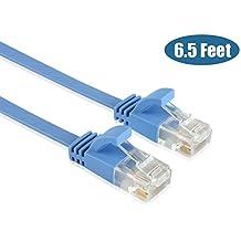 enterest Ultra Slim soporte de perfil RJ45 Cat 6 Ethernet Soporte de cables con alta velocidad