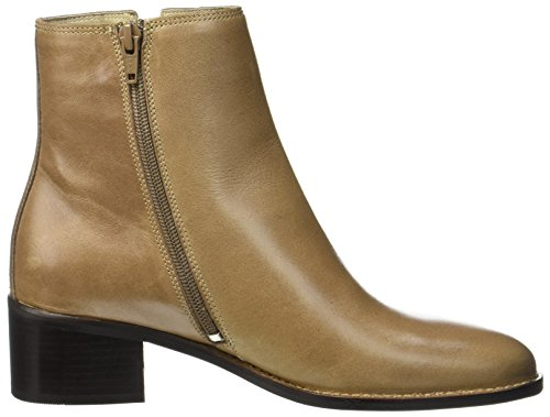 Marc O'Polo Damen Mid Heel Bootie 70714166101101 Stiefel Braun (Taupe)