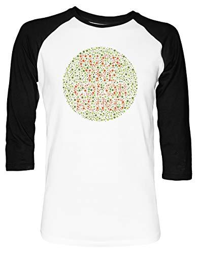 9eeb233318 Scheiße Das Farbe Blind Unisex Baseball T-Shirt 2/3 Ärmel Herren Damen Weiß