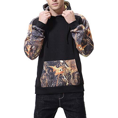 Kapuzenpullover Sunnyadrain Herren Muster Lose Hooded Patchwork Plus Größe Geschäft Pullover Winter Warm Sweatshirt Top Langarm